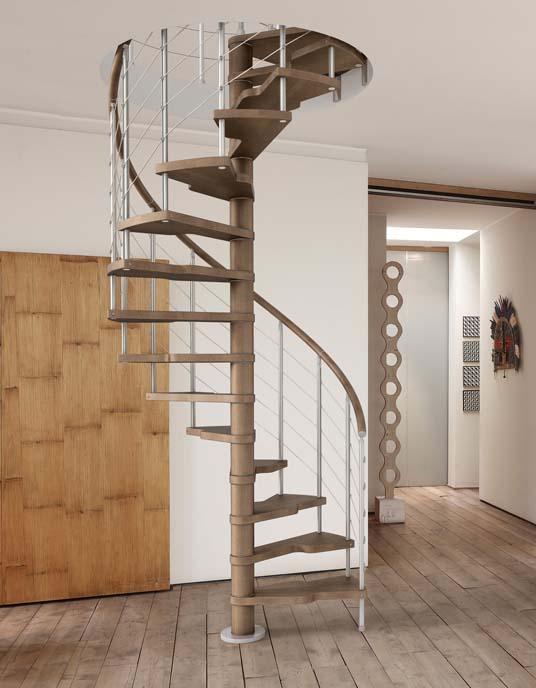 Vendita scale a chiocciola in legno e metallo a parma - Cancelletti per scale a chiocciola ...
